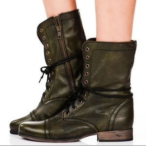 Steve Madden Size 9 Troopa Leather Moto Boots